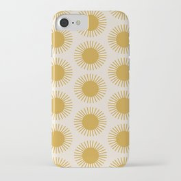 Golden Sun Pattern iPhone Case