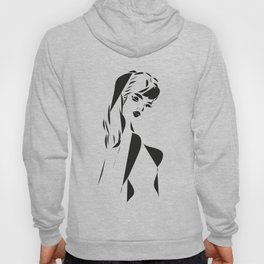 Graphic Woman 70s black and white #society6 Hoody