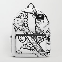 The beautiful deer looking at you with big eyes Backpack