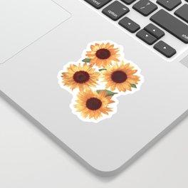 Happy Orange Sunflowers Sticker