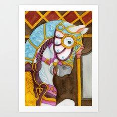 Carousel Horse - Clara Art Print