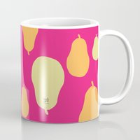 pear Mugs featuring Pear  by HeartWork Brand