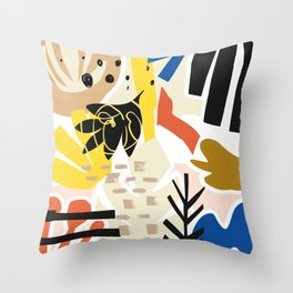 Abstract Cut Outs #shapeart #digitalart Throw Pillow