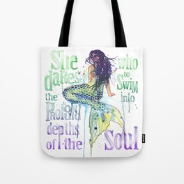Mermaid : Profound Depths Tote Bag