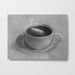 Whale in a tea cup  Metal Print