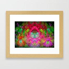 Hallucinogenic Hibiscus Flowers Framed Art Print