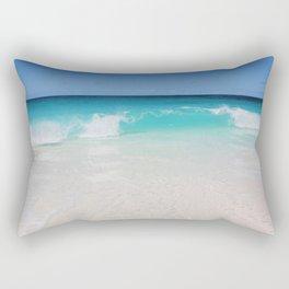 Aqua Wave Rectangular Pillow