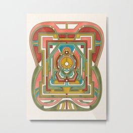Butterfly Express - Art Nouveau Design Metal Print