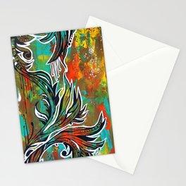 Orange green Stationery Cards