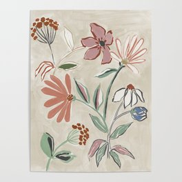 Monday Floral Poster