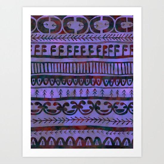 Noni- Purple Art Print
