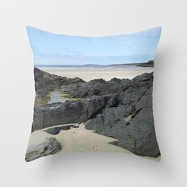 Rock Pool in Donegal Ireland Throw Pillow