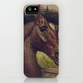 Vintage Horse Illustration (1893) iPhone Case