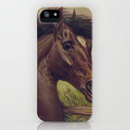 Vintage Horse Illustration (1893) iPhone Case