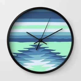 MINT SURF GIRL Wall Clock