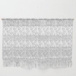 Gray Leaves on White Wall Hanging