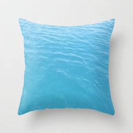 Texture of green-blue sea waters in the Aegean Throw Pillow