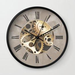 Vintage Golden Roman Numerals Wall Clock