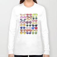 sunglasses Long Sleeve T-shirts featuring Sunglasses by Veronique de Jong · illustration
