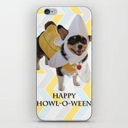 "Corgi Dog in Banana Suit ""Howl-O-Ween"" iPhone Skin"