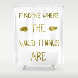 Wild Things - Gold Shower Curtain