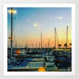 Boats at Sunset -Ava Photography Art Print