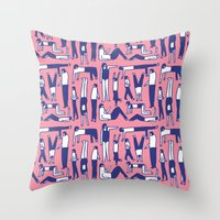 kim sy ok Throw Pillows featuring OK by Regina Rivas Bigordá