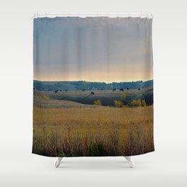 Grazing the Hillside Shower Curtain