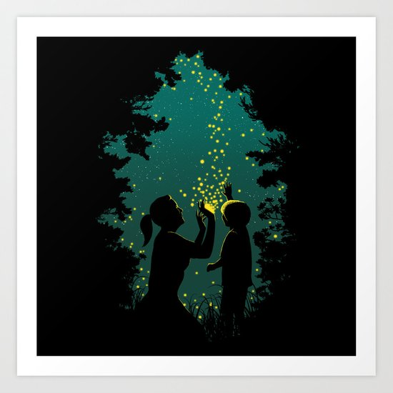 Fireflies Art Print