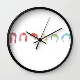 Hayley Williams Hairstyle Rainbow Wall Clock