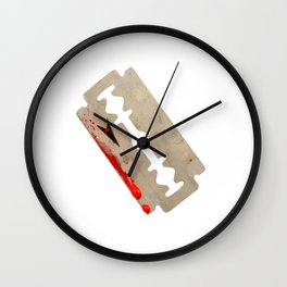Razor Blade Wall Clock