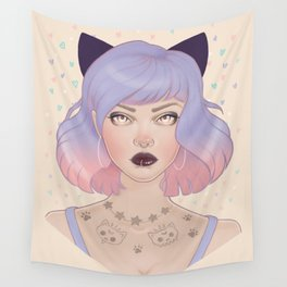 Cat Paw Tattoo Wall Tapestry