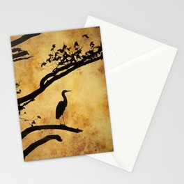 Heron Tapestry Stationery Cards
