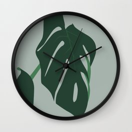 Fig Leaf Nature Print Wall Clock