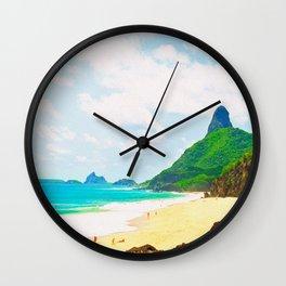 Morro do Pico Painting View Wall Clock