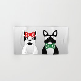 French Bulldogs Merry Christmas Hand & Bath Towel
