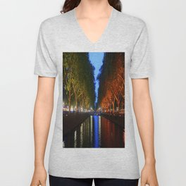 Colorful Canal Unisex V-Neck