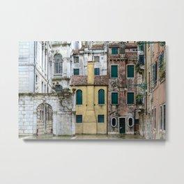 Venezia- Houses Metal Print