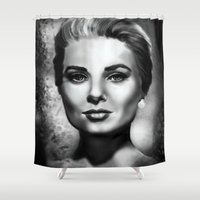 grace Shower Curtains featuring Grace by Lily Fitch