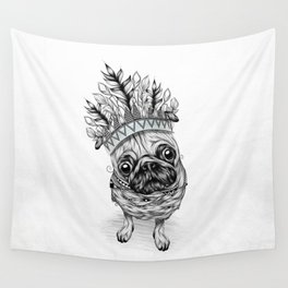 Indian Pug Wall Tapestry