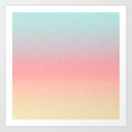 Frozen Ombre - Yellow, Pink & Blue Art Print