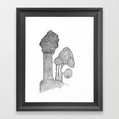 At the edge Framed Art Print