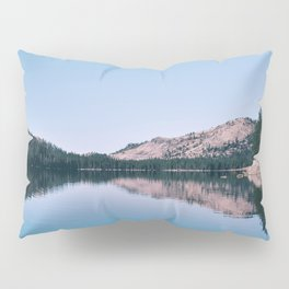 Red Canoe on the Lake (Color) Pillow Sham