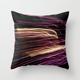 Night Stripes Throw Pillow