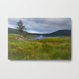 Glen Finglas Reservoir in the autumn, Scotland Metal Print
