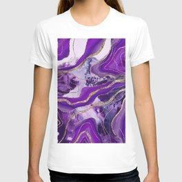Liquid Marble Agate Glitter Glam #4 (Faux Glitter) #decor #art #society6 T-shirt