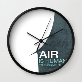To Air is Human… Wall Clock