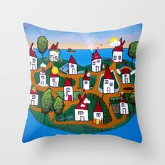Dream House Island Throw Pillow