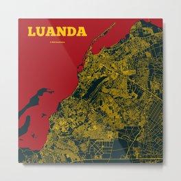 Luanda Street Map Metal Print