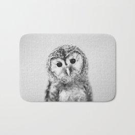 Baby Owl - Black & White Bath Mat